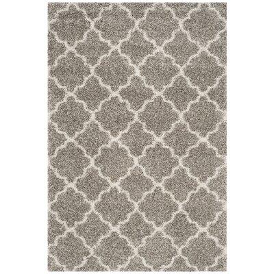 Lucina Shag Gray Area Rug Rug Size: 51 x 76