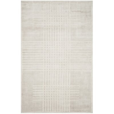 Maxim Hand-Woven Ivory Area Rug Rug Size: Rectangle 9 x 12