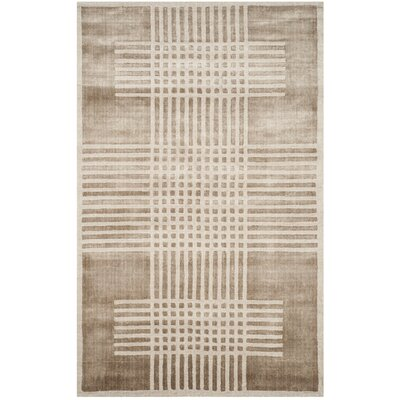 Maxim Hand-Woven Brown Area Rug Rug Size: 9 x 12