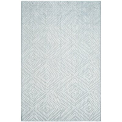 Maxim Hand-Woven Blue Area Rug Rug Size: Rectangle 6 x 9