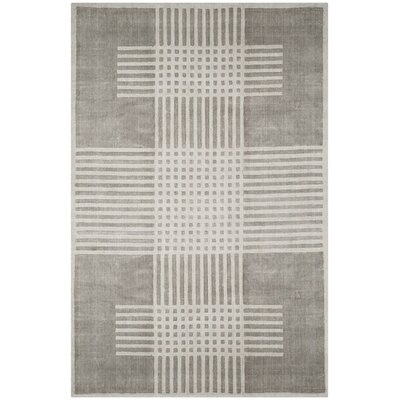 Maxim Hand-Woven Light Gray Area Rug Rug Size: Rectangle 6 x 9
