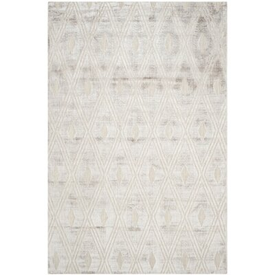 Maxim Hand-Knotted Silver Area Rug Rug Size: Rectangle 9 x 12