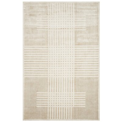 Maxim Hand-Woven Beige Area Rug Rug Size: Rectangle 6 x 9