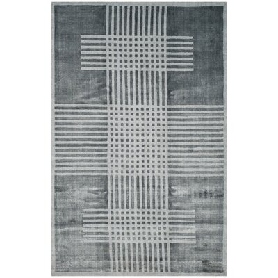 Maxim Hand-Woven Dark Gray Area Rug Rug Size: Rectangle 6 x 9