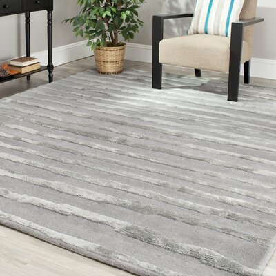 Avonmore Hand-Tufted Grey Area Rug Rug Size: Square 6