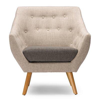 Slone Mid-Century Fabric Armchair
