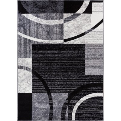Acree Black Area Rug Rug Size: 53 x 73