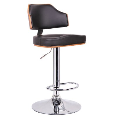 Cade Adjustable Height Swivel Bar Stool with Cushion