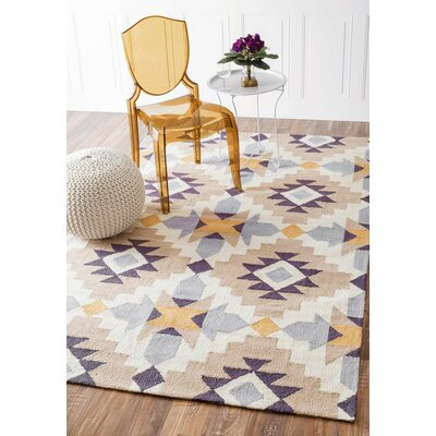 Crispin Hand-Woven Mustard Area Rug Rug Size: Rectangle 76 x 96