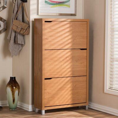 Cade Modern 18-Pair Shoe Storage Cabinet