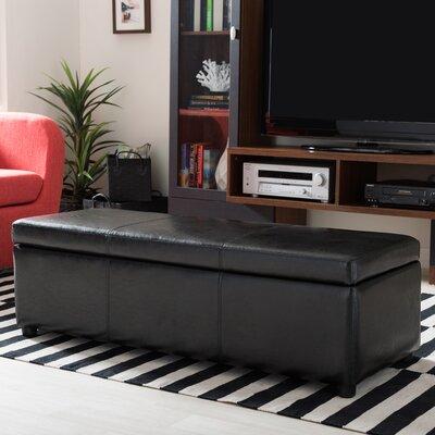 Cade Ottoman Upholstery: Black
