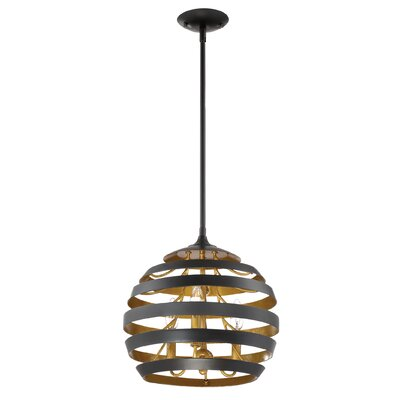 Vizcaino 3-Light Globe Pendant
