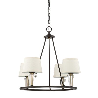 Vivanco 4-Light Candle-Style Chandelier
