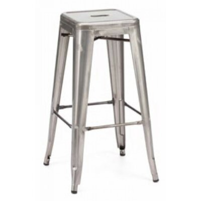 Vogan Adjustable Height Bar Stool Finish: Steel