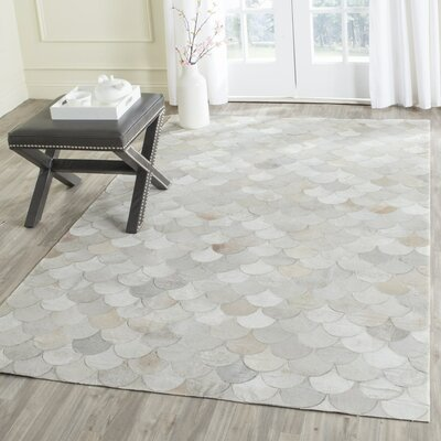 Bremner Hand-Wooven Beige/Gray Area Rug Rug Size: Rectangle 4 x 6