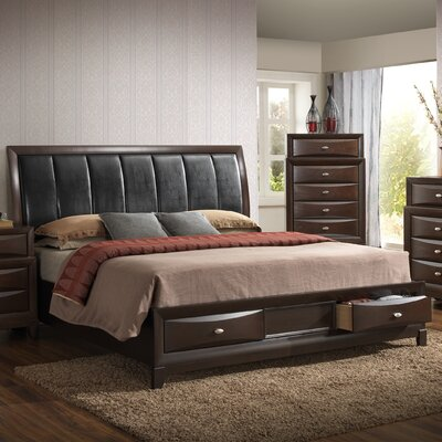 Baze Upholstered Storage Panel Bed Size: King