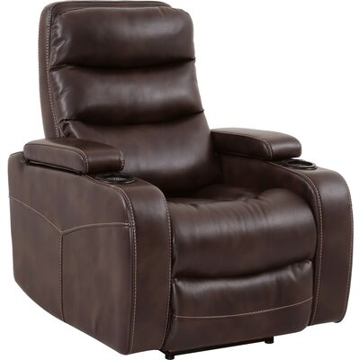 Dimas Power Recliner Color: Truffle