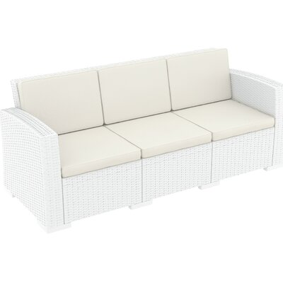 Vedder Resin Patio Sofa with Cushion Finish: White