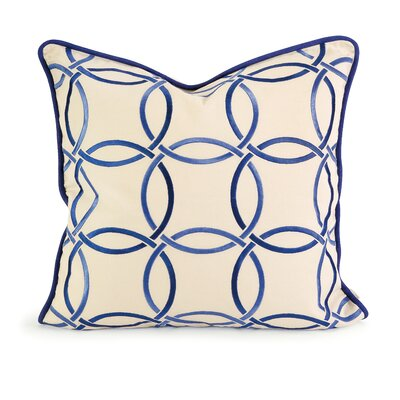 Vogelsang Catina Cotton Throw Pillow Color: Blue