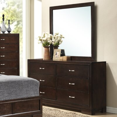 Voigt 6 Drawer Dresser with Mirror