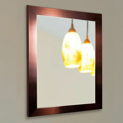 Brayden Studio Industrial Bronze Wall Mirror