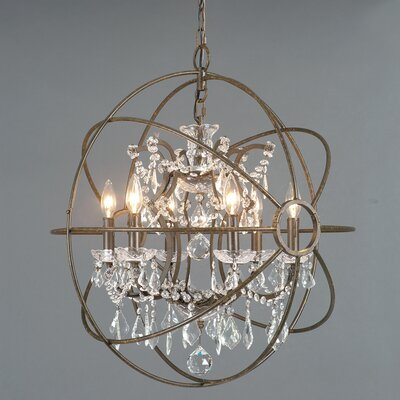 Volkman 6-Light Crystal Chandelier