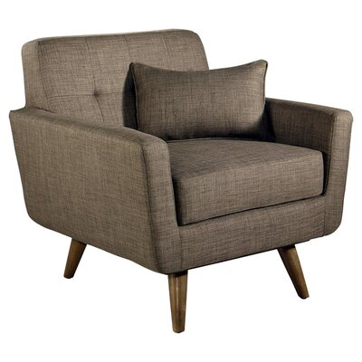 Vollmer Tufted Fabric Armchair Color: Khaki