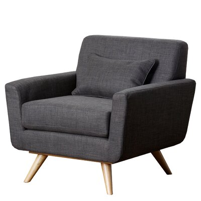 Vollmer Tufted Fabric Armchair Color: Gray