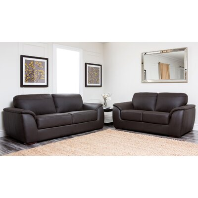 Voyles Leather Sofa and Loveseat
