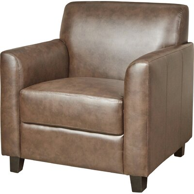 Diplomat Leather Lounge Chair Seat Color: Brown
