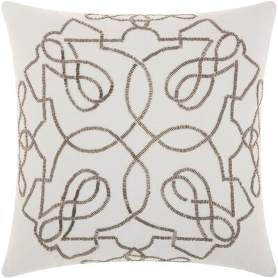 Schroeders Cotton Throw Pillow Color: Pewter