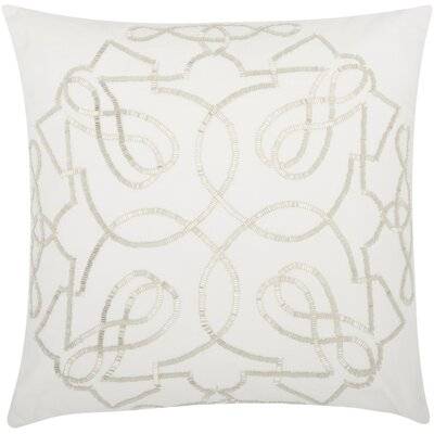 Schroeders Cotton Throw Pillow Color: Silver