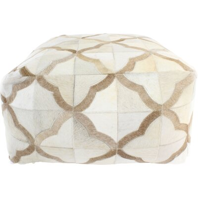 Manns Pouf Upholstery: Ivory/Camel