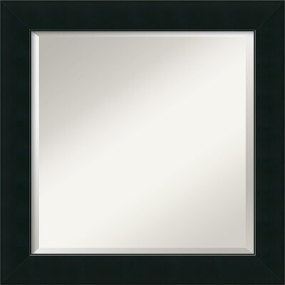 Graddy Black Square Wall Mirror