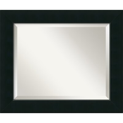 Graddy Black Wall Mirror Size: 21 H x 25 W x 1 D