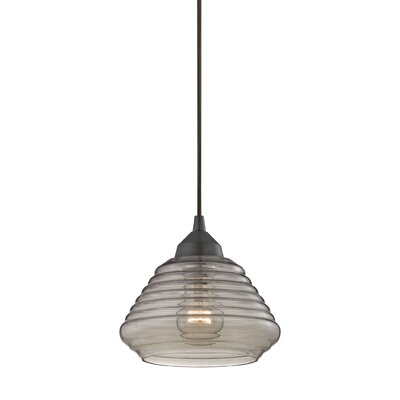 Toothman 1-Light Mini Pendant Finish: Rubbed Bronze