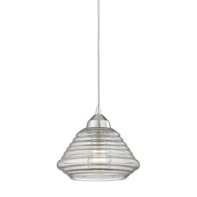 Toothman 1-Light Mini Pendant Finish: Polished Chrome