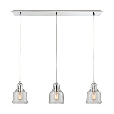 Topete 3-Light Kitchen Island Pendant Finish: Polished Chrome