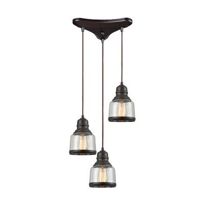 Topete 3-Light Cascade Pendant Finish: Oil Rubbed Bronze