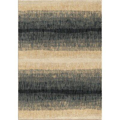 Denebola Blue/Cream Area Rug Rug Size: 53 x 76