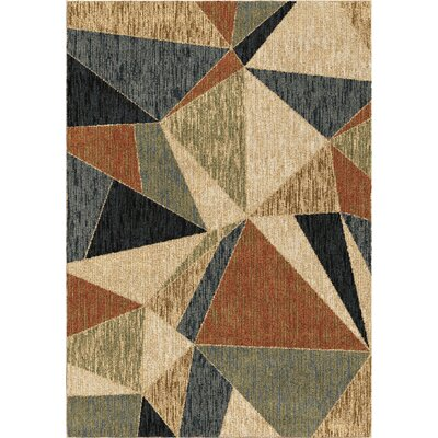 Denebola Blue/Brown/Beige Area Rug Rug Size: 71 x 101