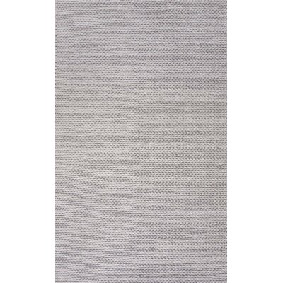 Touchstone Woolen Cable Hand-Woven Light Gray Area Rug Rug Size: 6 x 6