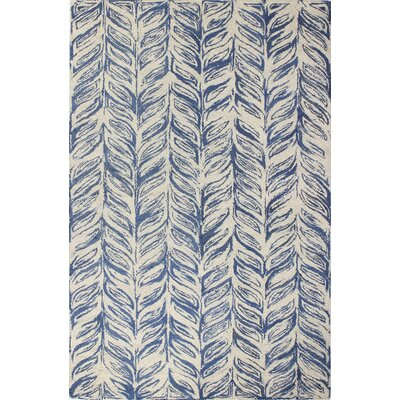 Luckett Hand-Tufted Ivory/Blue Area Rug Rug Size: Rectangle 7 x 9