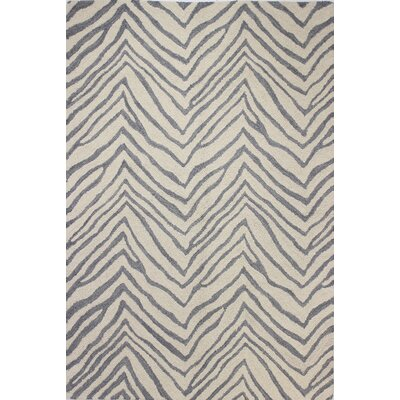 Ludlum Hand-Tufted Ivory/Grey Area Rug Rug Size: 76 x 96