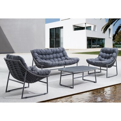 Hieronymus Patio 4 Piece Recliner Seating Group Set BRYS7573 34514923