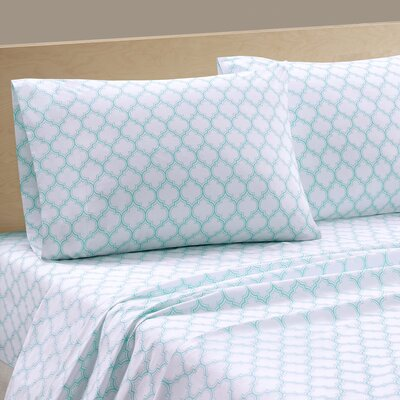 Parks 200 Thread Count Cotton Sheet Set Size: Full, Color: Gray