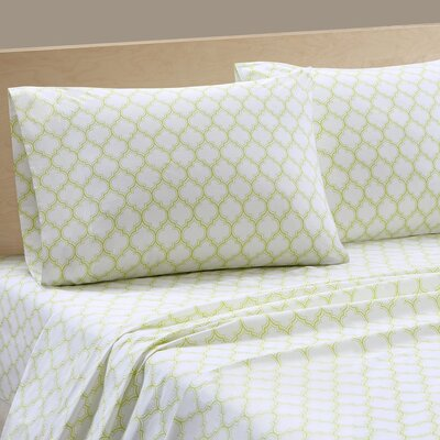 Parks 200 Thread Count Cotton Sheet Set Size: Twin XL, Color: Green