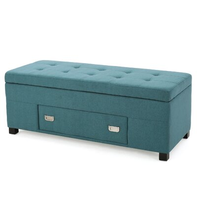 Hinton Ottoman Upholster: Teal