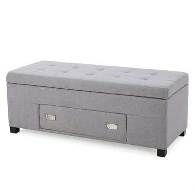 Hinton Ottoman Upholster: Light Gray