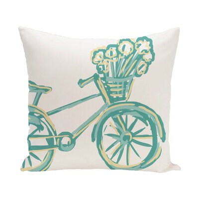 Chesser Outdoor Pillow Color: Jade, Size: 16 H x 16 W x 1 D